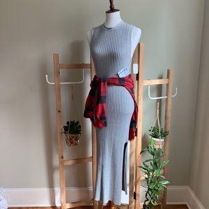 FRAME ribbed knit dress